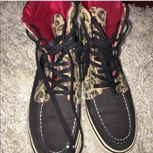 Sperry Top Sider high top loafers size 6.5